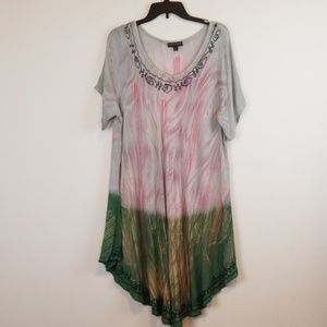 Dresses & Skirts - Greater Good plus size Embroidered tie dye dress